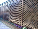 Garduri si pergole - Gard din lemn cu zabrele 1