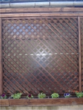 Garduri si pergole - Gard din lemn cu zabrele 5