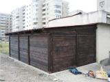 Mobilier urban - boxe exterioare din lemn culoare mahon 4