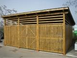 Mobilier urban - boxe exterioare din lemn culoare mahon