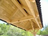 Produse din lemn pentru amenajari exterioare - acoperis in doua ape pentru poarta 2