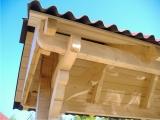Produse din lemn pentru amenajari exterioare - acoperis in doua ape pentru poarta 4