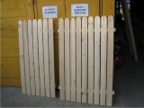 Produse din lemn pentru amenajari exterioare - gard pentru exterior cu muchii rotunjite