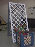 Produse din lemn pentru amenajari exterioare - grilaj alb vertical
